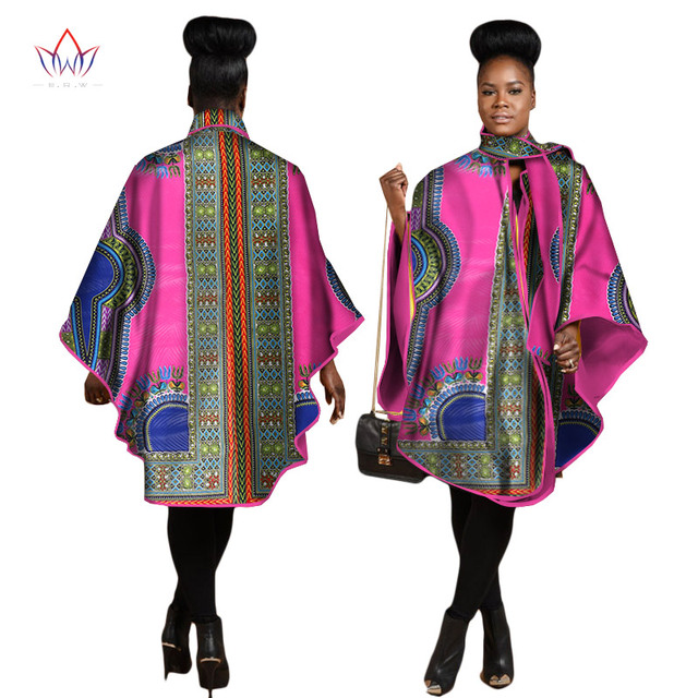d78098e49e3 2017 Autumn African Trench Coat for Women Plus Size African Clothing Africa  Print Outfits Dashiki Office Outwear Clothing WY1267
