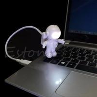 1PC Fantasy Astronaut USB Powered Mini LED White Night Light Bulb for Laptop PC Reading Gift Lights