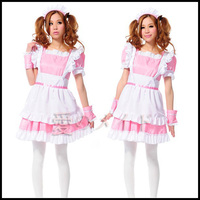Japan Anime Roromiya Karuta Cosplay Lolita Dress Cute Maid Apron Halloween Party For Women Girls