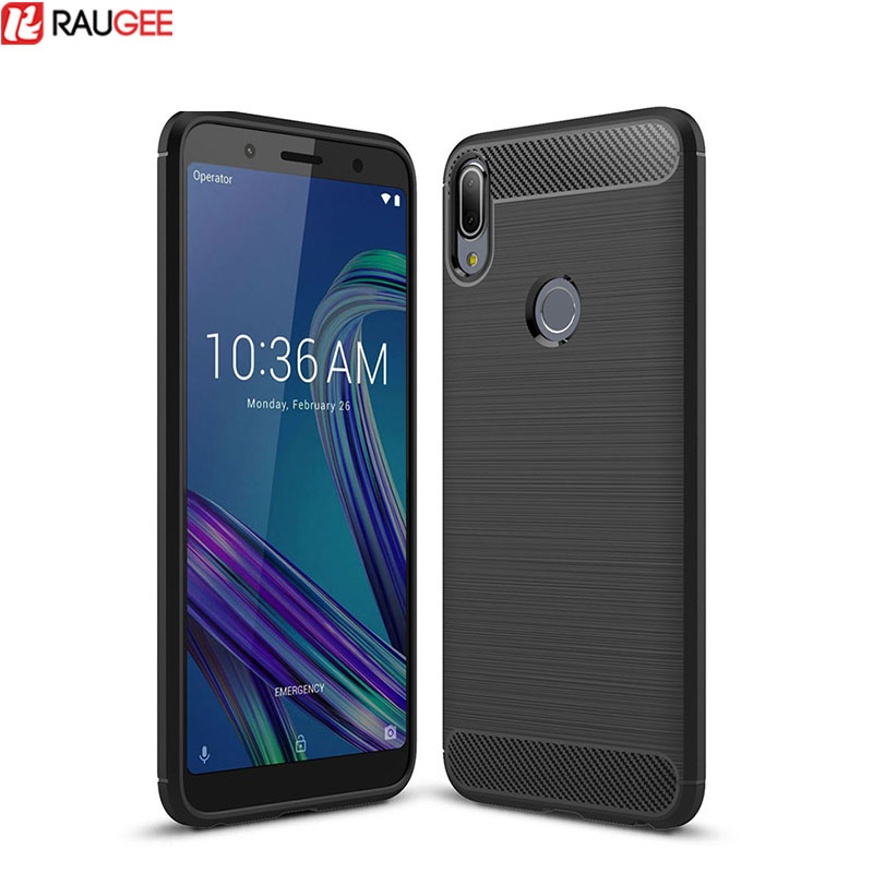 For Asus Zenfone Max Pro M1 ZB602KL ZB601 Case Carbon Fiber TPU Silicone Phone Case Cover For Asus ZenFone 4 Max ZC520KL Case(China)