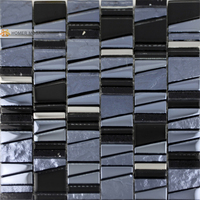 free shipping! unique design glass wall mosaic tiles, glass, black and gray color kitchen backsplash tiles bathroom shower tiles