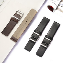 Ultra thin leather strap stainless steel buckle soft leather black brown business watch with accessories no 1 s9 nfc smart watch with leather strap brown