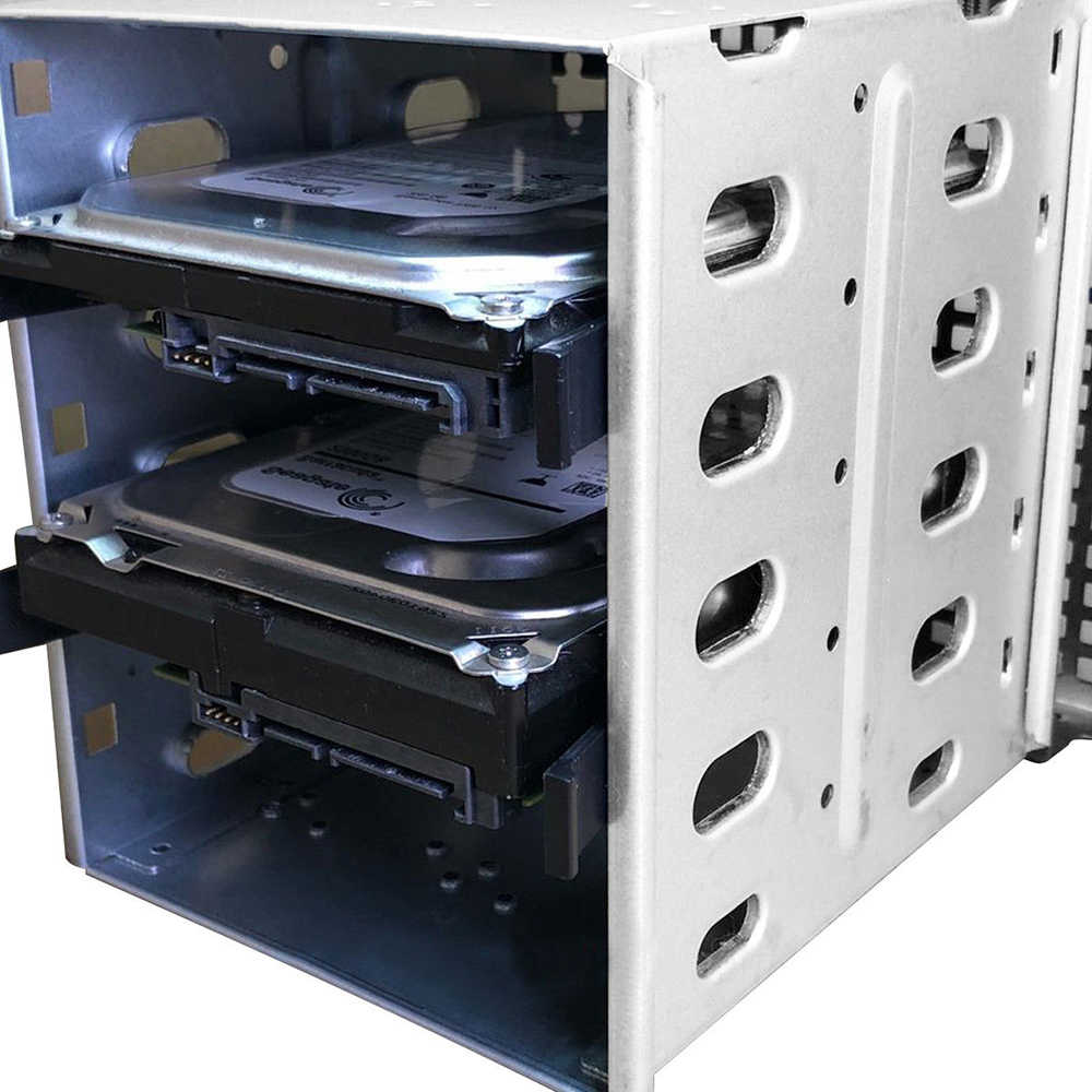 "NEW Arrival 5.25"" to 5x 3.5"" SATA SAS HDD Cage Rack Hard Drive Tray Caddy Adapter Converter with Fan Space"