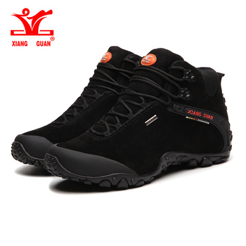 Xiang Guan outdoor Men women large size EU 36~48 Tactical boots High Quality anti-skid Martin Hiking Shoes waterproof Sneaker