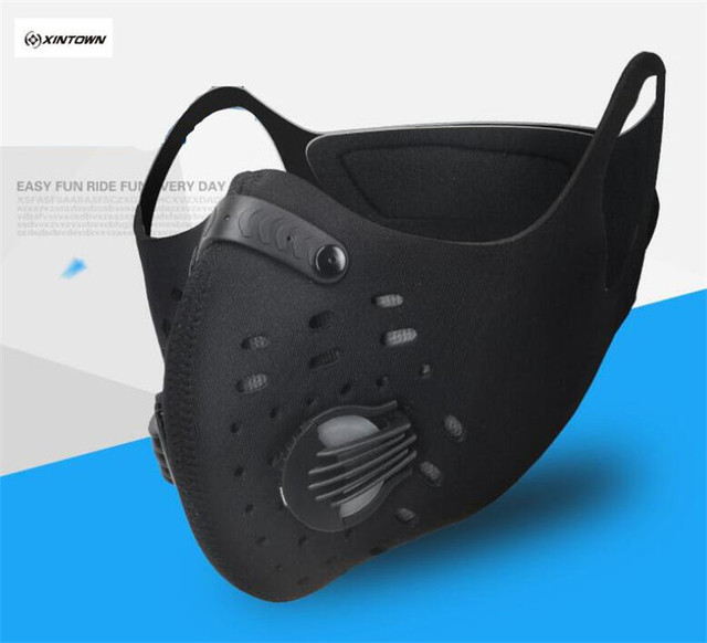 XINTOWN PM2.5 Cycling Mask Activated Carbon Filter Sports Face Shield Dustproof Road Bike Bicycle Training Mask