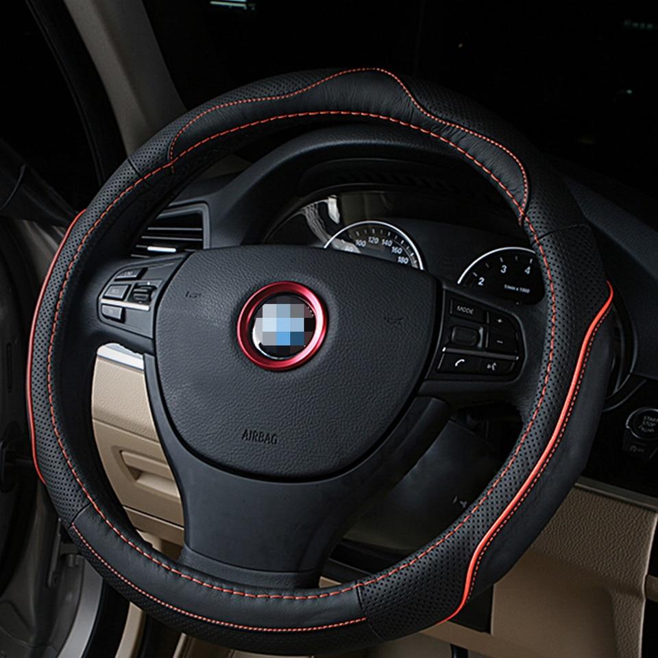Bleu ACYCY Anneau Volant Cercle Autocollant D/écoration De Style De Voiture pour M3 M5 E36 E46 E60 E90 E92 BMW X1 F48 X3 X5 X6 Fibre De Carbone Noir