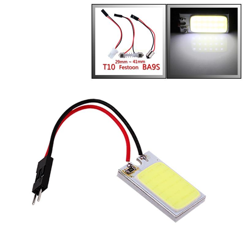 3W COB 18 LED Car Panel Reading Light T10 Ba9s Festoon Dome Adapter W5w C5w Led Car Bulbs Interior Light Parking Bulbs 12V D025
