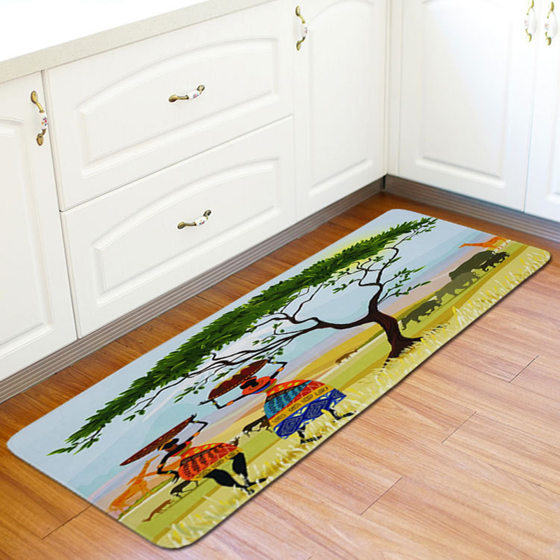 Honlaker 55x160CM African Woman Long Mat Kitchen
