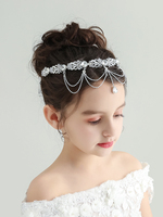 Fashion Diamond Korean Hair Bands for Girls Performance Flower Crown Gorgeous Hair Accessories