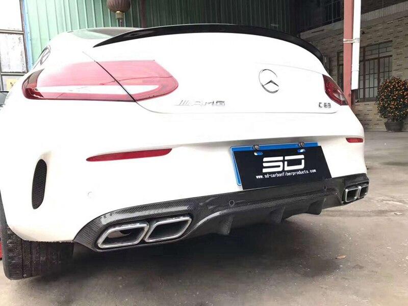 Adatto per Mercedes Benz W205 C-Class C63AMG//C180//C200//C250//C300//C450AMG Labbro del Tetto Posteriore alettoni Stile 2015 2016 Coda di alettone in Ala del Vento Fissa QCWY Spoiler per Baule Auto