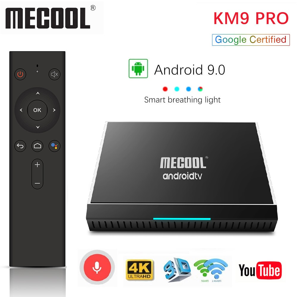 Mecool KM3 ATV 4G 64G 128G Android 9.0 Google certifié Androidtv Amlogic S905X2 4K Double Wifi Smart TV Box KM9 Pro 2/16G 4/32G - 3