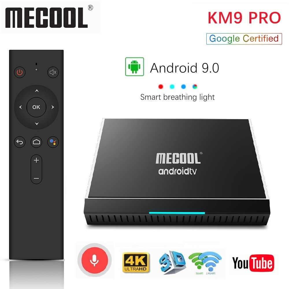 Mecool KM3 TV Box Android 9.0 Google certifié Androidtv Amlogic S905X2 4G 64G KM9 Pro 2/16G 4/32G 4K Wifi Smart TV Box H96 max