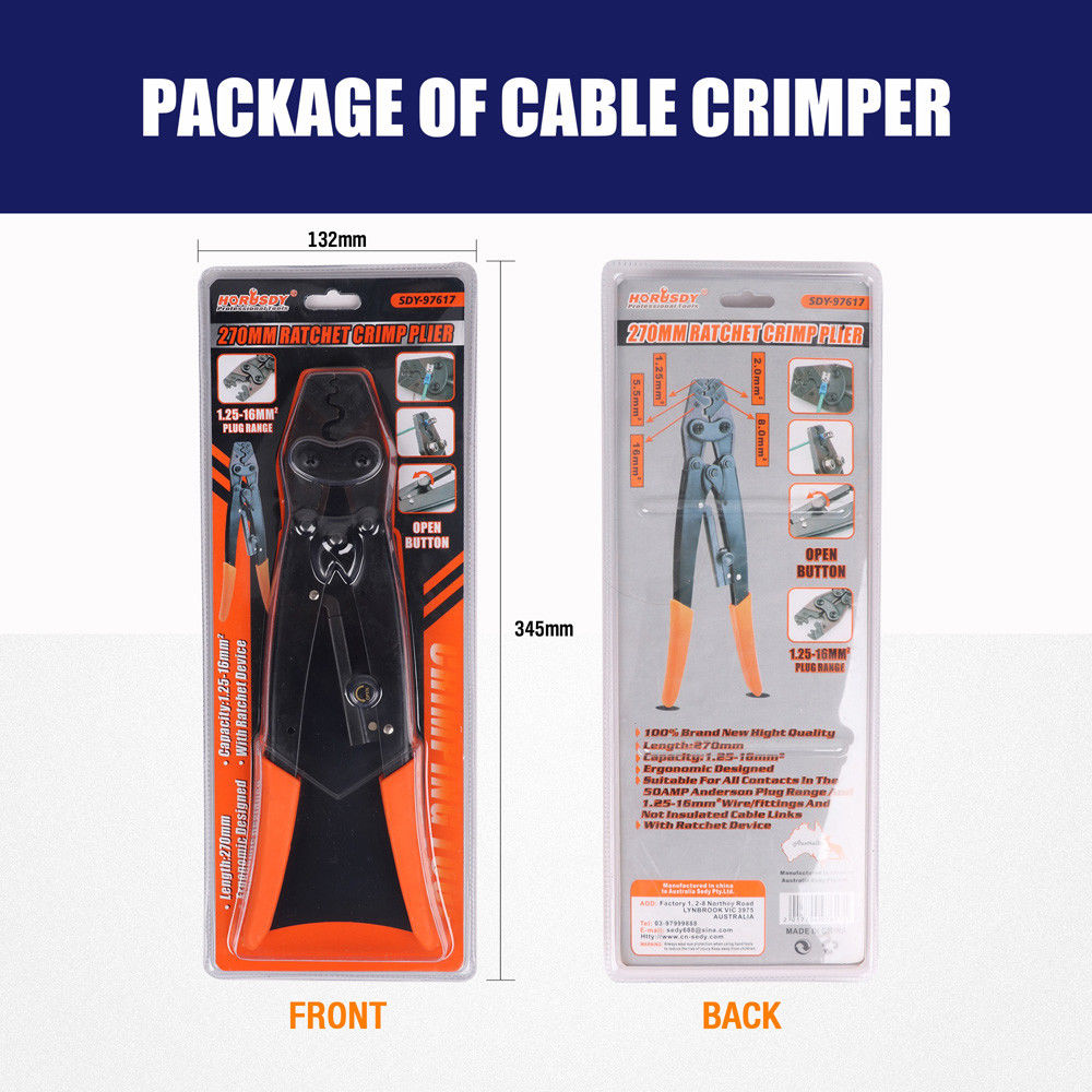 "Купить с кэшбэком 11"" Wire Crimpers Terminal Crimping Pliers Engineering Ratcheting Bootlace Crimper Tools Cord End Terminals Press Pliers"