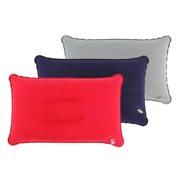 1pc Outdoor Portable Folding Air Inflatable Pillow Double Sided Flocking Cushion For Travel Plane Hotel Hot Worldwide