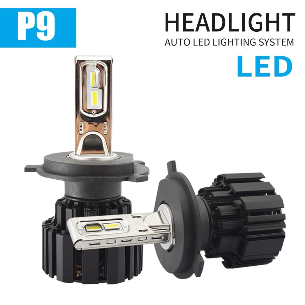 1 Juego de faros Led H4 P9 H7 LED de alto brillo para coche, haz de luces Hi/Lo, 100W 13600LM, bombillas para lámparas de automóvil, luz antiniebla, estilo de coche Sofirn nuevo SD05 Buceo linterna LED LUZ DE BUCEO Cree xhp50,2 lámpara Super brillante 2550lm 21700 con interruptor magnético 3 modos