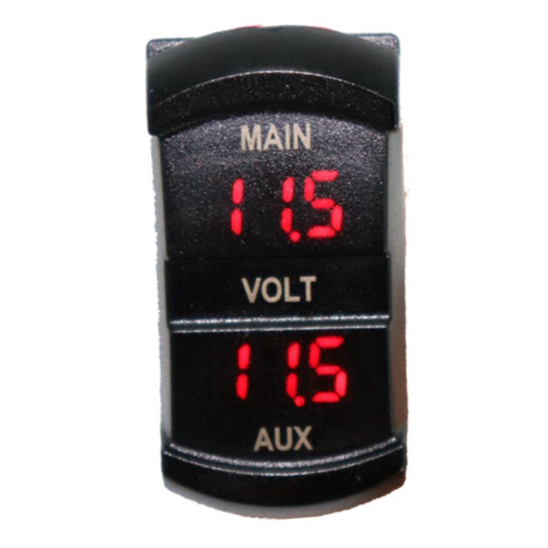 Led Digital Display Voltage Meter Monitor Switch Style Double Dash Panel Voltmeter With For Auto Car RV Marine Boat Accessories