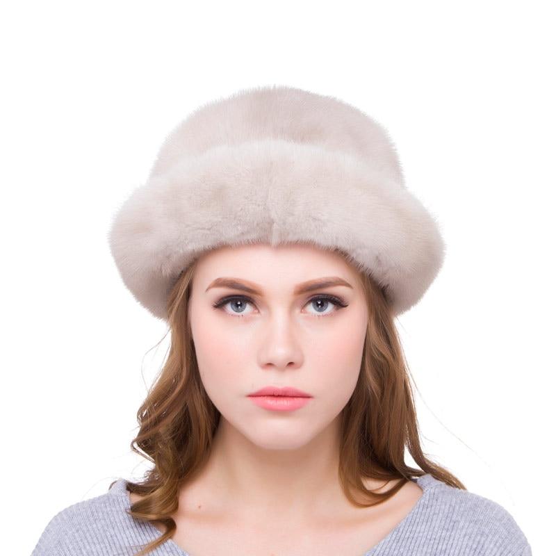 JKP настоящая норковая меховая шапка зимняя импортная цельная норковая меховая шапка 2018 русская роскошная женская модная шапка DHY18 12