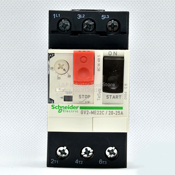 New Original Schneider GV2-ME22C Motor Protection Circuit Breaker GV2ME22C 20-25A Push Button 3P Thermal Magnetic Type