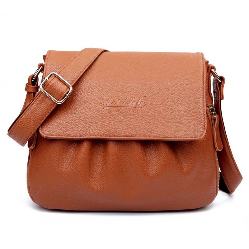 Fashion Middle-aged And Old Bag Women Shoulder Bags Genuine Leather Bag For Ladies Single Bag Soft Solid Zipper Casual Bags Girl new women hobo bags soft pu leather women s handbag large ladies shoulder bag for middle aged female shopper travel bags