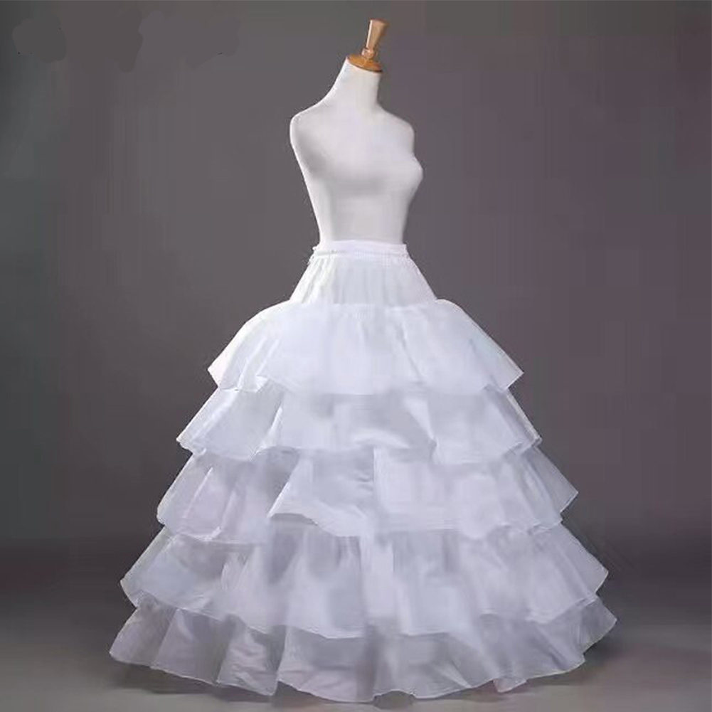 4 Hoops 5 Layers Wedding Petticoat Ball Gown Crinoline Slip Underskirt For Wedding Dress High Quality