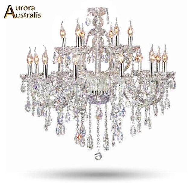 Luxus Kristall Wohnzimmer Sala De Cristal Lustre Moderne 18 Braço Leuchte  Hochzeit Dekoration Iluminação Art Deco