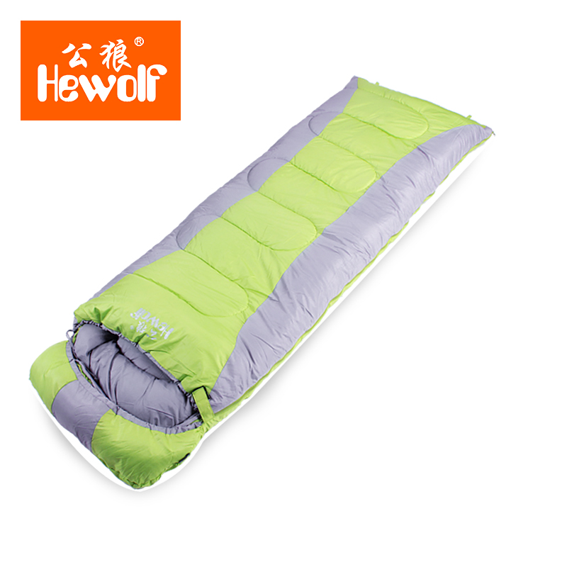 Hewolf Brand Outdoor Sleeping Bag Camping Adult Thick Envelope Couple Indoor Winter Thickening Ultra Sleeping Bag hewolf sleeping bag outdoor cotton lunch break room camping adult spring autumn envelope thickening 2 persons