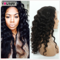 Pre Plucked 360 Lace Wigs For Black Women 180% Density Peruvian Virgin Loose Curly Wave Full Lace Human Hair Wigs With Baby Hair