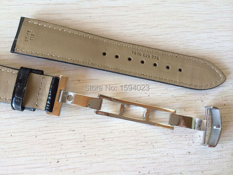 20mm (cataramă 18mm) T019430 Cataramă de fluture argintiu de - Accesorii ceasuri - Fotografie 5