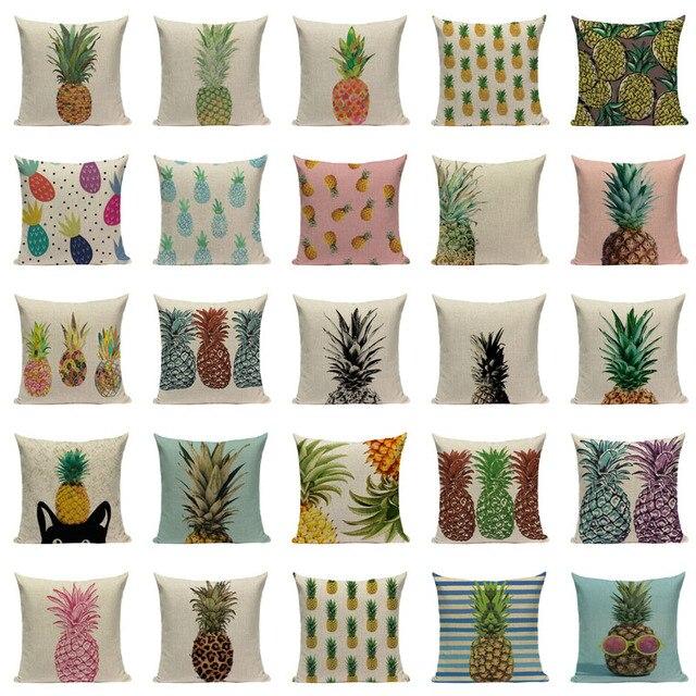 Ananas Coperture per Cuscini Biancheria di Stile Tropicale ananas Almofadas 45 Cm x 45 Cm Fodere per Cuscini Piazza Promozione Complementi Arredo Casa Almofadas Fundas