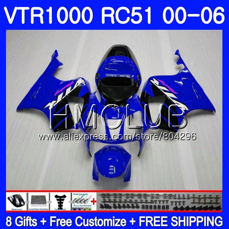 Fairing Blue black For HONDA VTR1000 2000 2001 2002 2003 2004 2005 2006 80HM.7 RTV1000 VTR 1000 RC51 SP1 SP2 01 02 03 04 05 06Fairing Blue black For HONDA VTR1000 2000 2001 2002 2003 2004 2005 2006 80HM.7 RTV1000 VTR 1000 RC51 SP1 SP2 01 02 03 04 05 06