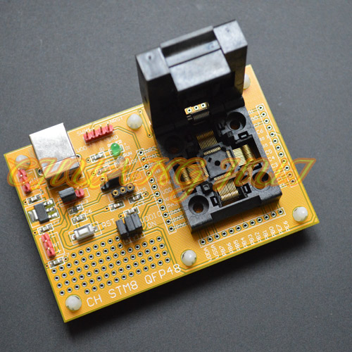 ФОТО IC test STM8-QFP48 Core board LQFP48 TQFP48 STM8A STM8S STM8L Download seat test socket Programmer adapter 0.5mm pitch