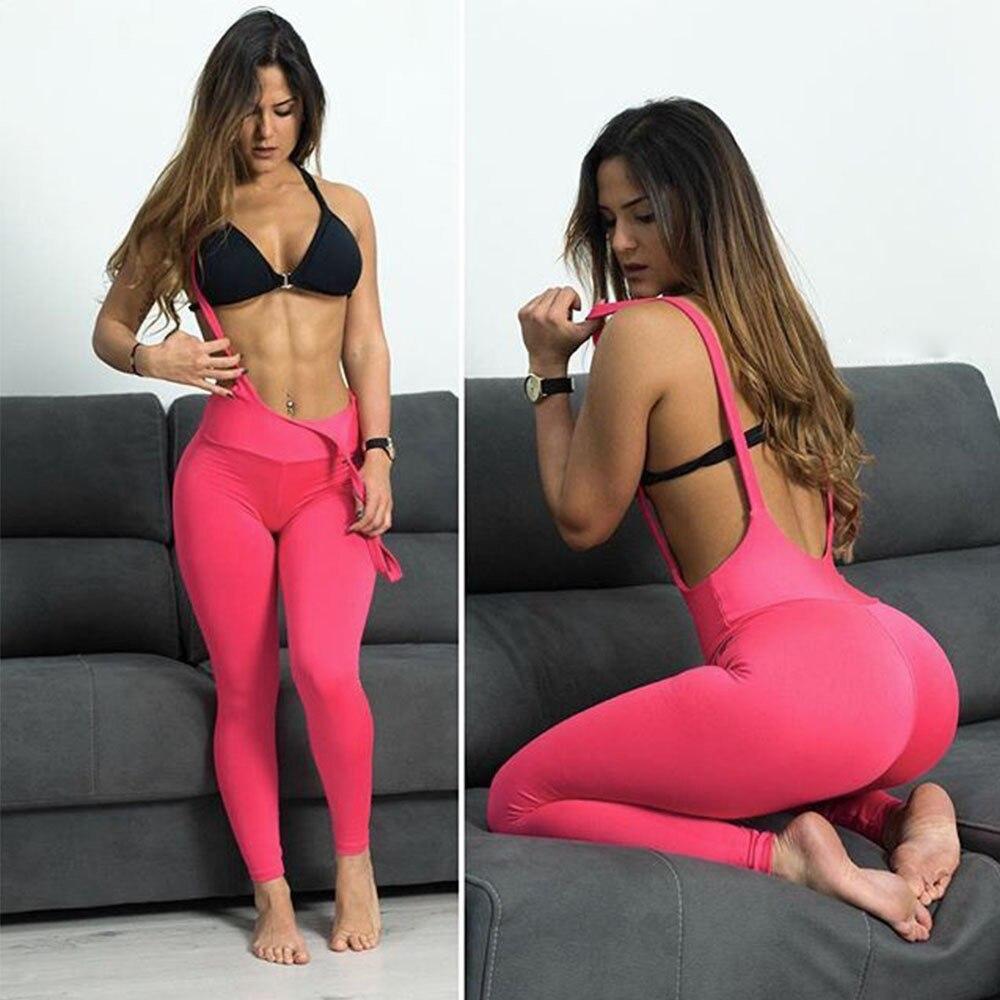 Women Summer Suspender   Leggings   Sexy Push Up Pants Dry Quick High Elastic   Legging   Skinny Workout Fitness Woman Slim Leggins