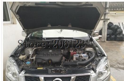 Apto para Nissan Qashqai J10 2008 2009 2010 2011 2012 2013 accesorios para coche capó soporte para elevación de golpes de GAS estilo de coche