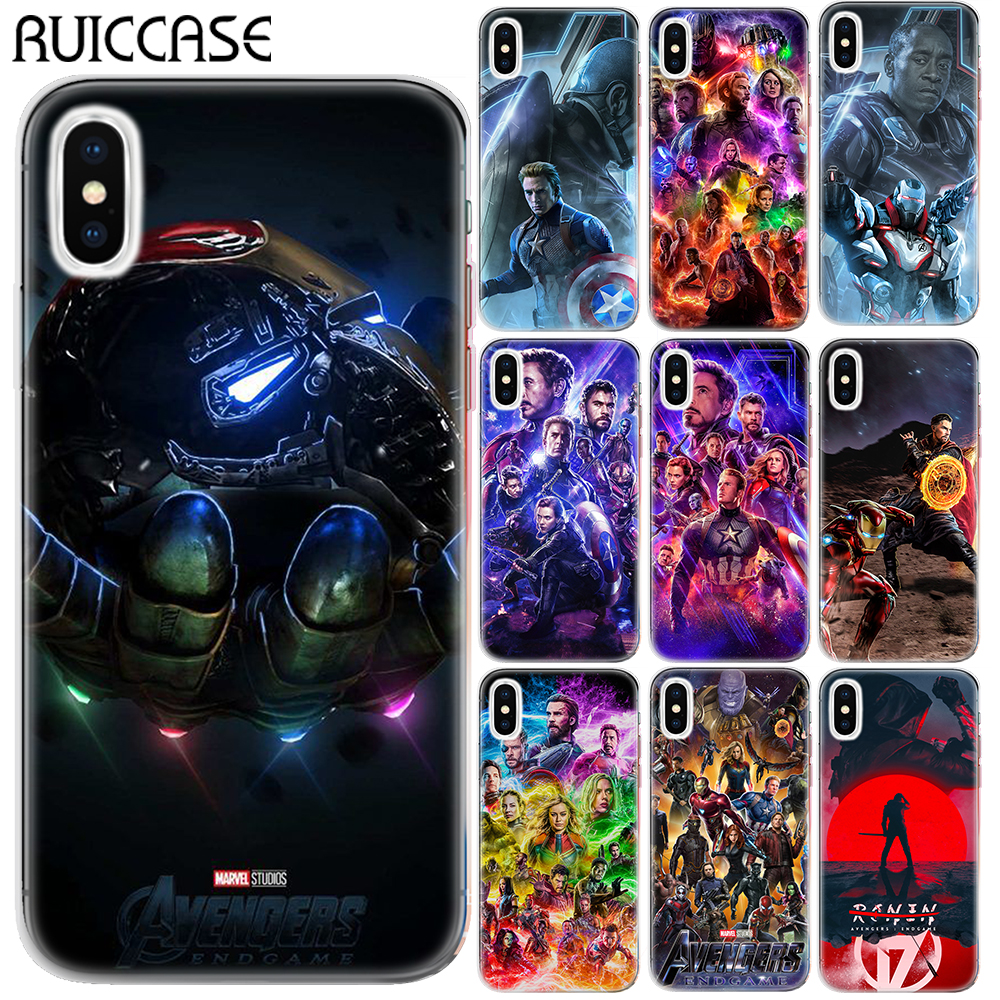 Avengers 4 Endgame Soft TPU Case Cover For Coque Apple iPhone XR XS Max 5 5S SE X XS 6 6S 7 8 Plus Super Heros Phone Capa marvel glass iphone case