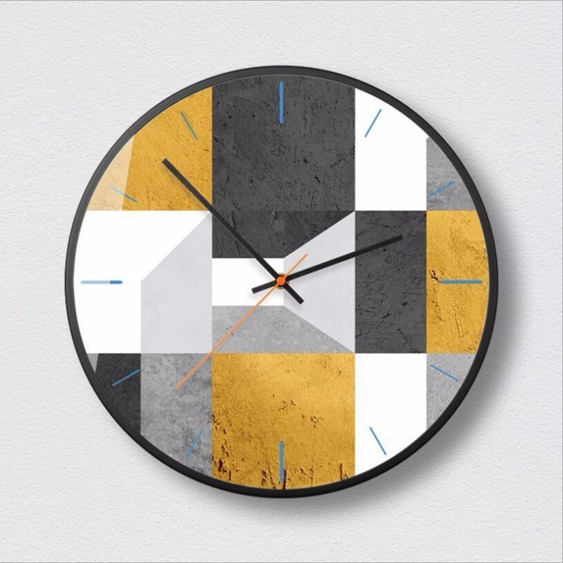New 3D Big Wall Clock Large Size Geometric Wall Clock Modern Design Minimalist Nordic Silent Movement Clocks Decoration For Home