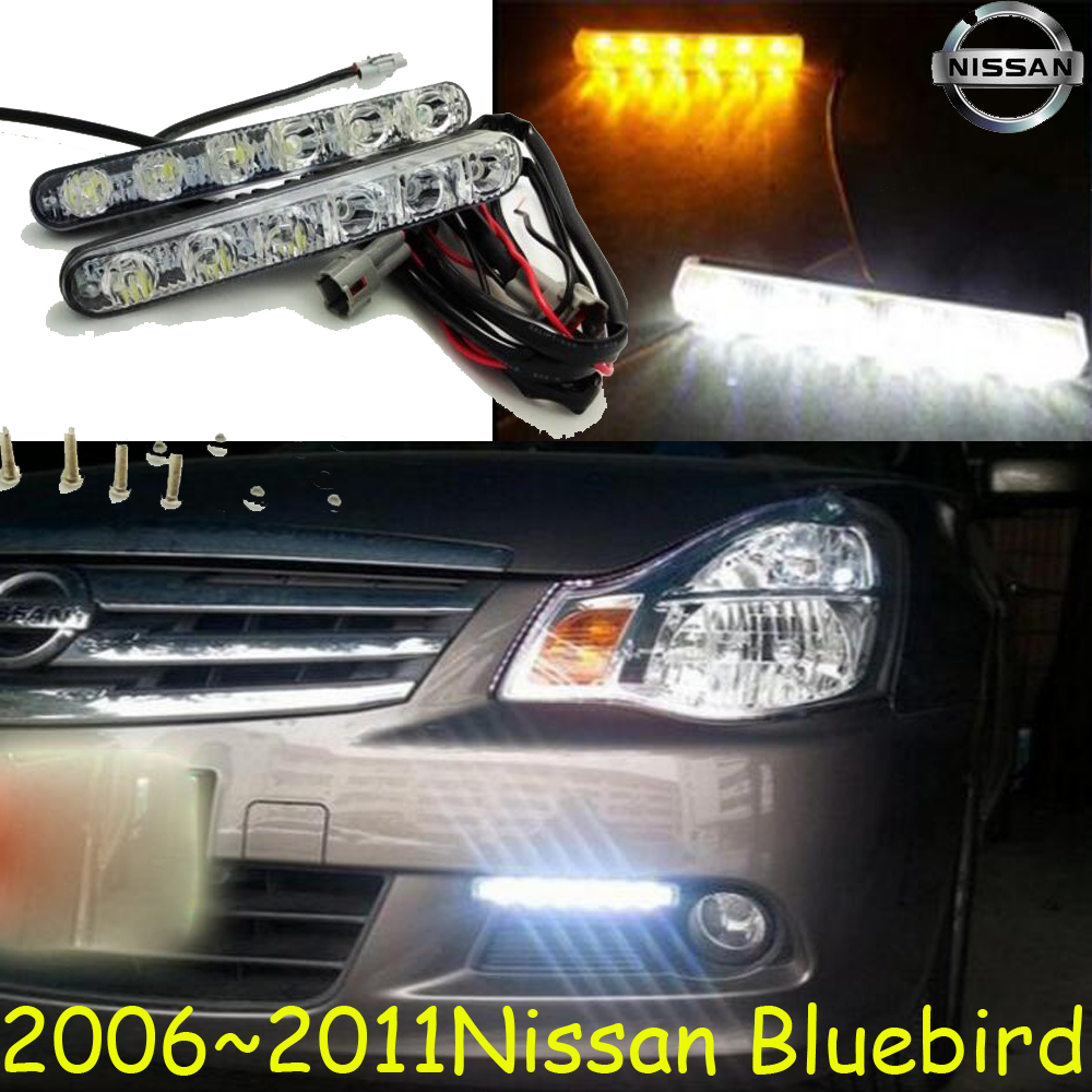 2006~2011 Sylphy daytime light,Free ship!LED,bluebird fog light,2ps/set;Sylphy;bluebird daytime light;bluebird car styling sylphy daytime light 2006 2011 chrome car detector led free ship 2pcs sylphy fog light car covers sylphy bluebird