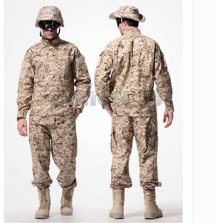 US Army Tactical Uniform Camouflage Suit Military Combat Uniform Set Shirt + Pants ACU Clothing Outdoor Hunting Clothes For Men outdoor hunting clothes us army tactical uniform men camouflage suit military combat uniform set shirt pants acu camo clothing