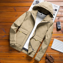 2019 spring Korean version of the new men's hooded tooling jacket men's short student tide brand wild youth casual jacket