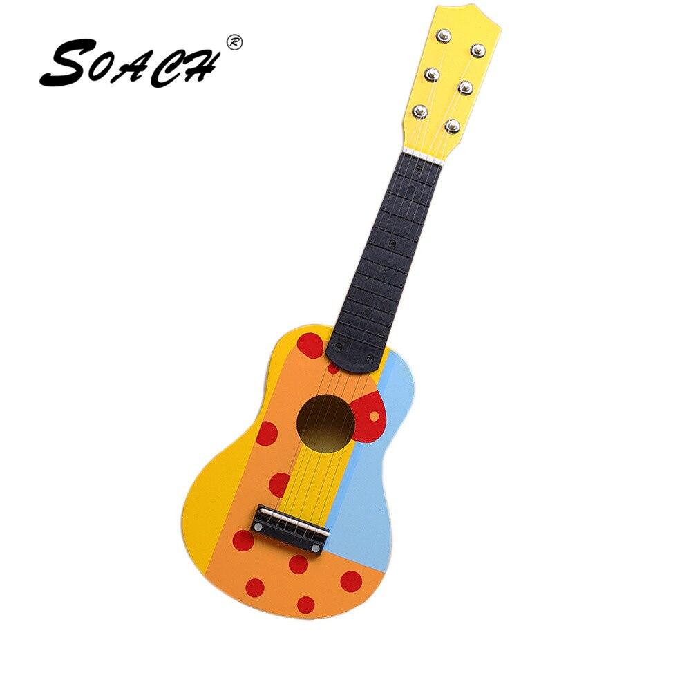 1819 10 De Descuentodibujo De Soach 6 Cuerdas Guitarra Acústica Para Niños Madera Para Principiantes Pequeña Guitarra Musical Para Niños Regalo In