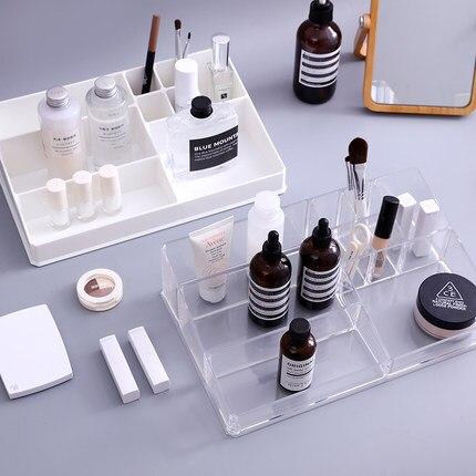 Organisateur de maquillage acrylique créatif organiseur de bureau de boîte de rangement en plastique Transparent pour les cosmétiques