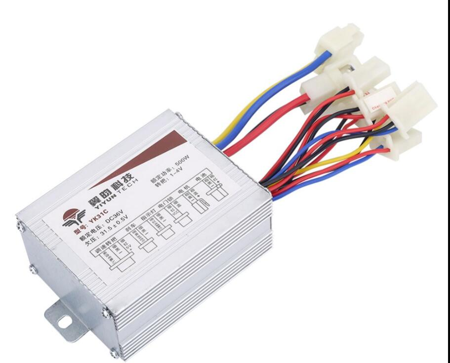 24V/<font><b>36V</b></font>/48V 250/350/500W DC Electric Bike <font><b>Motor</b></font> <font><b>Brushed</b></font> Controller Box for Electric Bicycle Scooter E-bike Accessory image