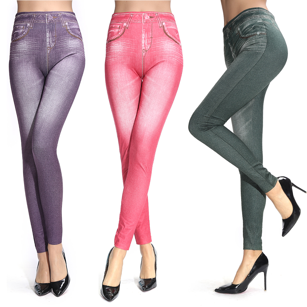 Jeggings are leggings that are made to look like skin-tight denim jeans.