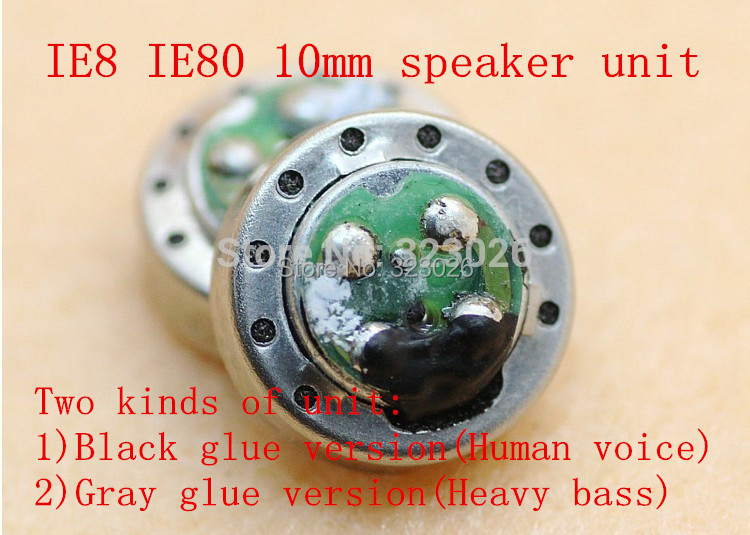 IE8 speaker unit IE80 10MM DIY speaker bass berat 1pair = 2pcs