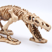 2018 Time-limited Real Mrzoot Resin Dinosaur Skeleton Model Aquarium Decorative Skull Animal Research Teaching Fish Tank Decor