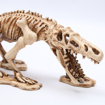 2018 Time-limited Real Mrzoot Resin Dinosaur Skeleton Model Aquarium Decorative Skull Animal Research Teaching Fish Tank Decor