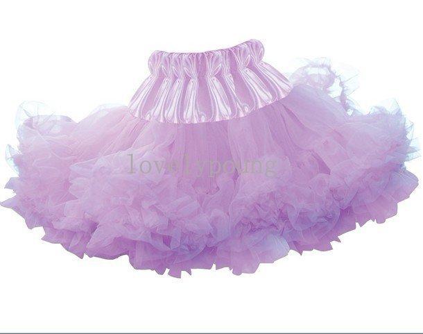 Girls  light purple fluffy tutu skirt petticoat  soft and fluffy good quality