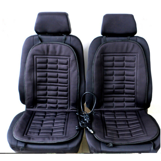 Winter Warmer Car Heated Seat Cushion Hot Cover Heat Heating- 2 Pieces Conjoined Free Shipping Car Heated Seat Cushion