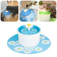 Automatic Flower Style 1.6L Cat Dog Electric Fountain Pet Bowl Drinking Water Dispenser Drink Dish Filter For Cat Pet