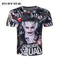 Coringa 3d T-shirt Dos Homens camisetas Hip Hop do Esquadrão Suicida Partes Superiores engraçadas Harley Quinn de Manga Curta Camisetas Moda Novidade ZOOTOP URSO