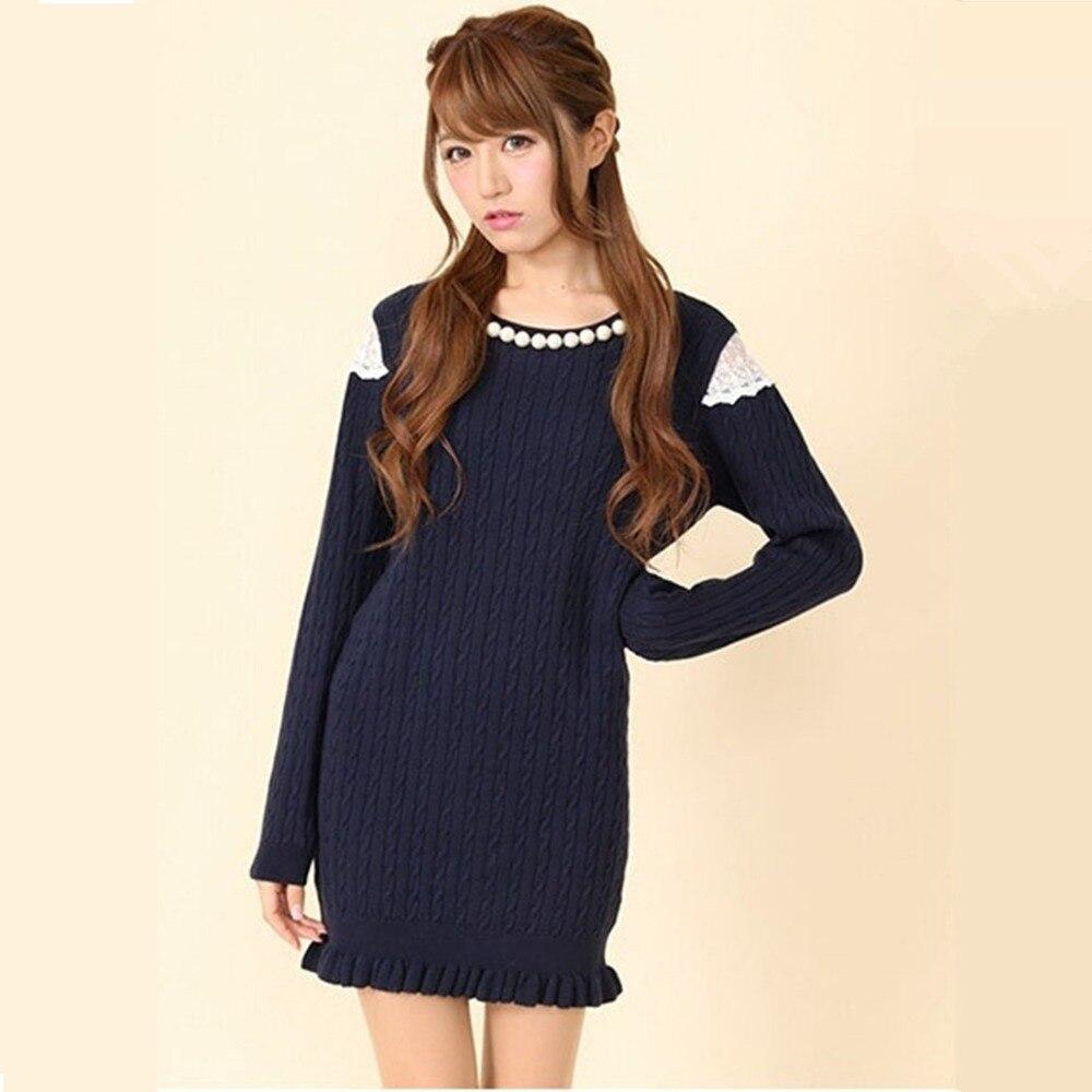 Popular Navy Blue Sweater Dress-Buy Cheap Navy Blue Sweater Dress ...